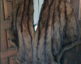 1950s Mink Capelet Alaska Fur Co. Cincinnati