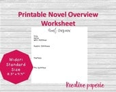 Novel Overview Worksheet ...