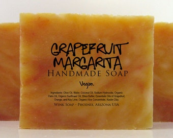 Grapefruit Margarita Handmade Soap, Vegan, Organic, 100% Natural, Essential Oils
