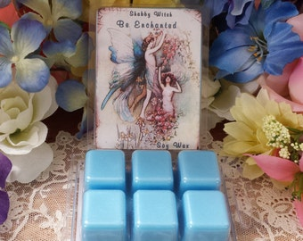Be Enchanted Tarts,Soy Melts, soy tarts in Clam Shell,  Tarts,  Wax Melts