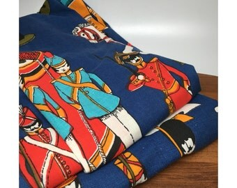 Toy Soldier Curtains - 1960s / 1970s