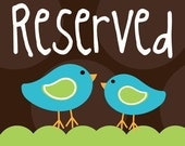 Reserved listing for D.