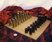 50 CALIBER BULLET SHELL chess pieces