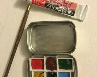 Mini Palette w/ watercolor