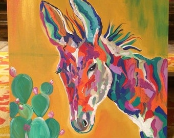Colorful Donkey Painting