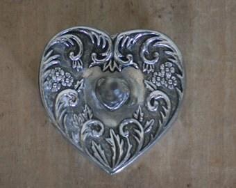vintage godinger silverplate ring holder 1992