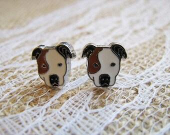 Pit Bull Earrings Pitbull Earrings Rescued Dog
