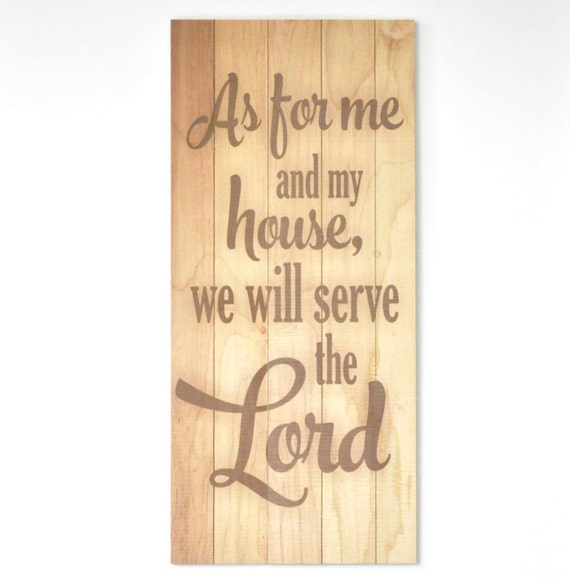 As for me and my house we will serve the Lord rustic wood pallet sign 11x22