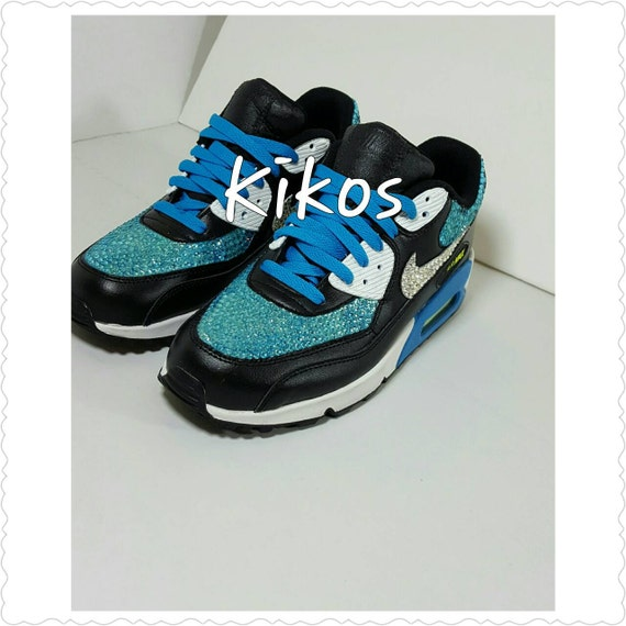 durable service Swarovski Nike Air Max 90 Size 7 youth by KikosDesigns on  Etsy 20d28f2932