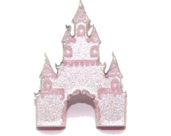 Pink Shimmer Castle Pin