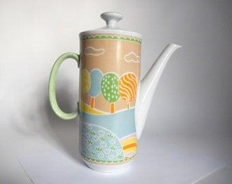 Mid Century 1960's The Little Farm by Shufford Porcelain Teapot