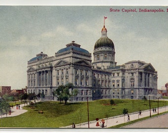 State Capitol Indianapolis Indiana 1909 postcard
