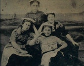 Tintype - Ahoy, Ladies in Their Beach Wear, Swim / Bathing Suits