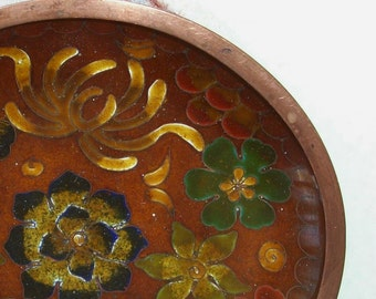 Vtg Cloisonné Enamel Pin / Trinket Dish, Bowl, Plate