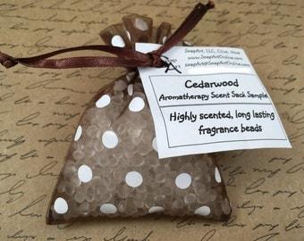 Cedar Scent Sachet Sacks Cedar Chest Cedar Closet Sachet Bag Fragrance Beads in 3x4 Organza Bag Scented with Cedarwood Essential Oil