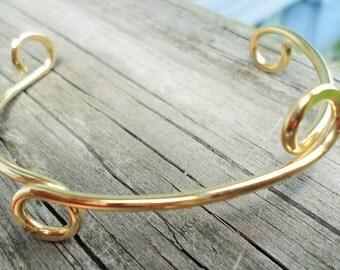 Bracelet Starter Handmade Choose from Copper, Brass, Oxidized Copper or Verdigris Patina