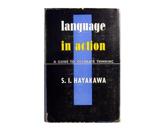 """E. McKnight Kauffer book jacket design, 1941. """"Languge in Action: A Guide to Accurate Thinking"""" by S. I. Hayakawa."""