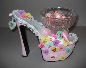 Shoe Candy Dish Conversation Hearts
