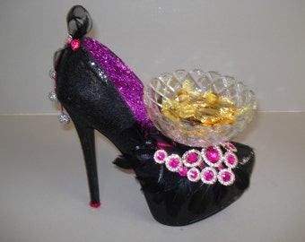 Gemstone High Heel Collection-Fuchsia