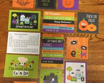 Doodlebug BOOS & BREWS project life cards - set of 14