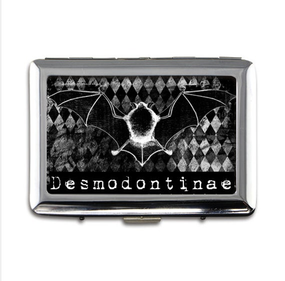 Vampire Bat Desmodontinae  Money/card/cigarette case printed on both sides