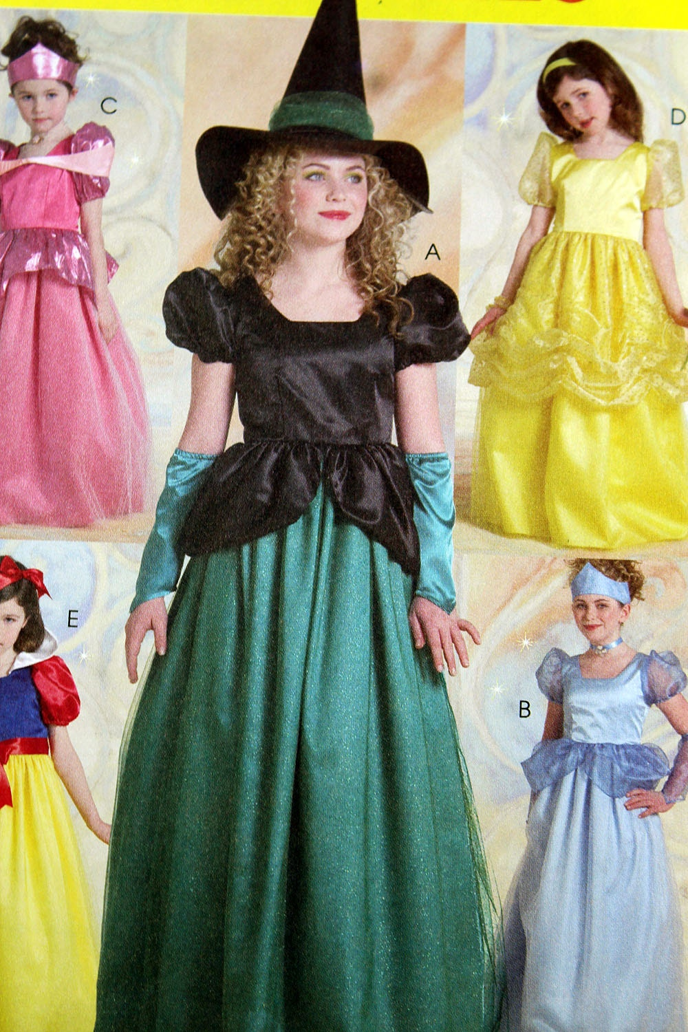 McCall's 5494, Girls' Costume Pattern, Princess and Witch Costume ...