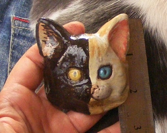 Big Large Cat Button One Of A Kind , Extra Large Cat Button No. 4