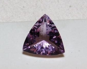 AMETHYST - Excellent - Top Grade High Quality Fine Cut Faceted - Natural Purple Color Clean Super Sparkle Trillion shape Stone size 15x15 mm