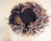 Fabulous Vintage Ostrich Feather hat for the Derby Day or Special Occasion,still has tag never worn Michael Howard, Joe Bill Miller