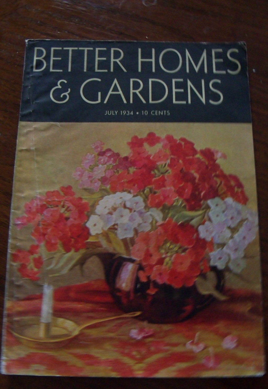 1934 Vintage Magazine Better Homes And Gardens Magazine Home