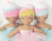 Lola Cupcake - Cupcake Rag Doll - MADE TO ORDER