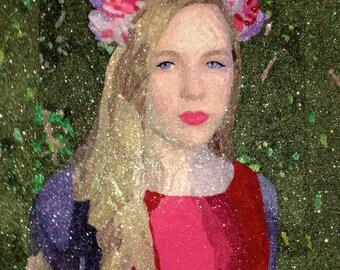 Custom Glitter Portrait