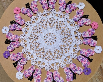 Butterflies - Hand Crochet Doily - **NEW** - Lone Star Lace
