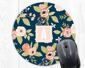 Custom Mouse Pad Mousepad Gift for Coworker Gift for Boss Girlfriend Mom Custom Mousepad Personalized Mouse Pad Floral Mouse Pad