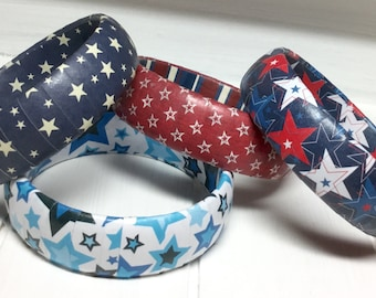 Patriotic Jewelry - Patriotic Bracelet - 4th of July Jewelry - American Bracelet - 4th of July Accessories - Red White and Blue Jewelry