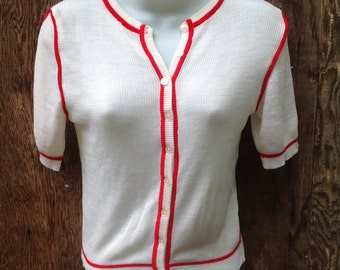 Vintage Ladies Little Preppy Sweater / 60s Style / Made by Empire / 525