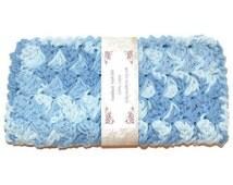 Fancy Face Cloth, Blue Spa Washcloth, Crocheted Wash Cloth, Spa Facewasher