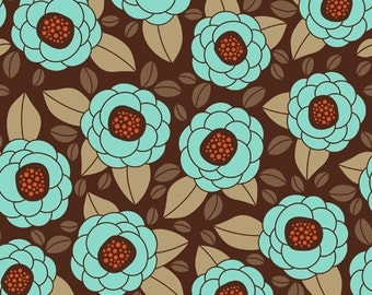 Aviary 2 Bloom in Bark by Joel Dewberry Cotton Quilting Fabric