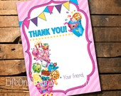 Shopkins Thank You Card