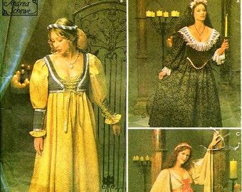 Simplicity Costume Pattern 8192 - Misses' Renaissance Dresses/Costumes - SZ 10/12/14