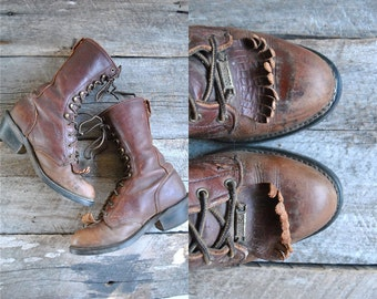 Packer Boots Sz 7 wom   //  Roper Boots Size 37.5  //  THE LOGGER