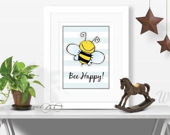 HONEY BEE DECOR Honey Bee Gifts Art Gift Bumble