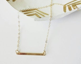 Gold filled link necklace, classic modern jewelry