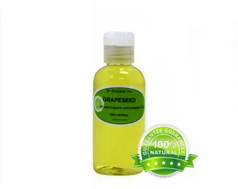 4 OZ Pure Grapeseed Oil Organic Cold Pressed 100% Pure