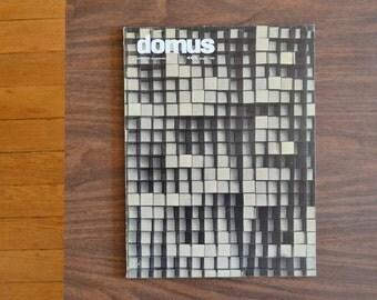 vintage midcentury modern DOMUS architecture magazine - 1963