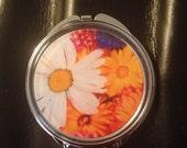 Wildflower image Compact Mirror -Handmade-FREE SHIPPING-