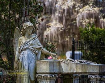 Bonaventure Cemetery Memorial Fine Art Print