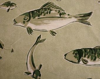 Le Poisson Japonaise Black and Tan Pillow Cover
