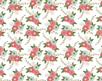 Wonderland Floral White Fabric by Riley Blake