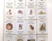 Beatrix Potter Books Lot, Set of 16 Vintage Hardcover Books with Dust Jackets, Some Damaged (L2)